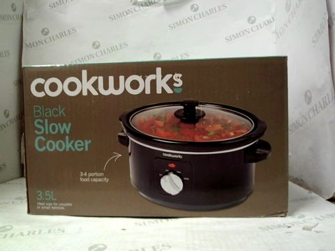 Lot 100 COOKWORKS BLACK SLOW COOKER