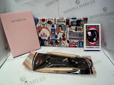 Lot 7656 LOT OF A LARGE QUANTITY OF ASSORTED HOUSEHOLD ITEMS, TO INCLUDE HARRODS LONDON APRON, AUTONOMIC TAROT DECK, DESIGNER NOTEBOOK, ETC