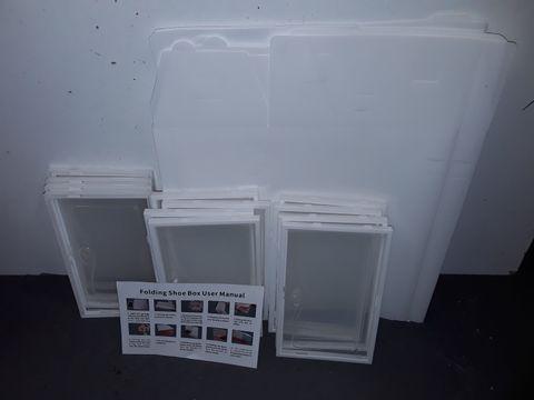 Lot 5026 LOT OF APPROXIMATELY 12 FOLDING SHOE BOXES