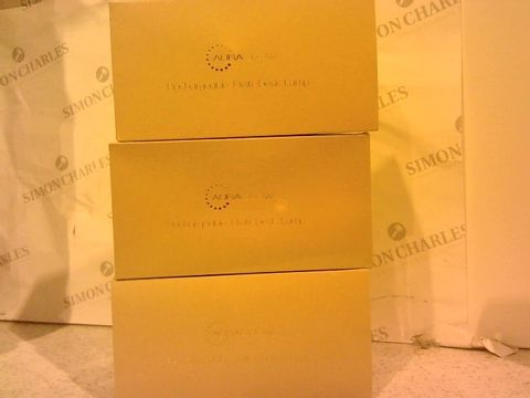 Lot 237 AURAGLOW SET OF 3 RECHARGEABLE LAMPS WITH GIFT BOXES - WHITE