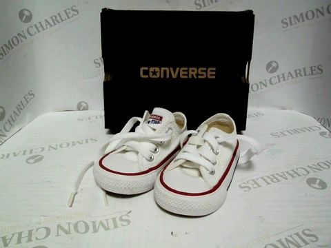 Lot 1063 BABY CONVERSE ALL STAR SHOES - UK SIZE 2