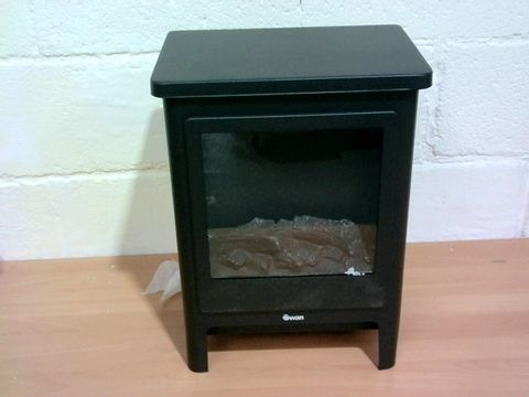 Lot 806 SWAN ELECTRIC STOVE - BLACK RRP £119.99