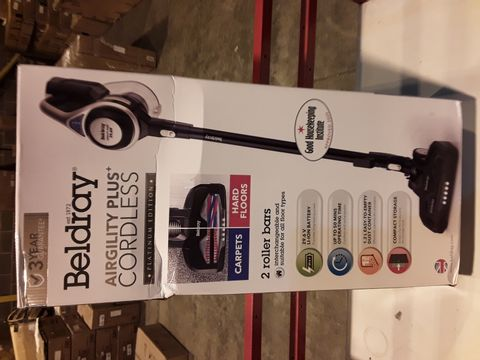 Lot 3299 BELDRAY AIRGILITY + CORDLESS VACUUM CLEANER