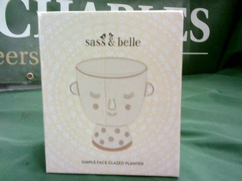 Lot 1048 SASS & BELLE SIMPLE FACE GLAZED PLANTER