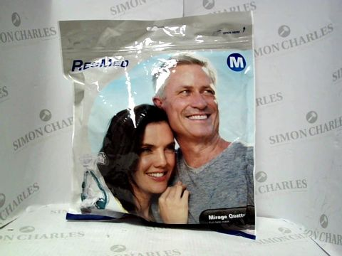 Lot 7628 RESMED MIRAGE QUATTRO FULL FACE MASK SIZE M (SEALED)