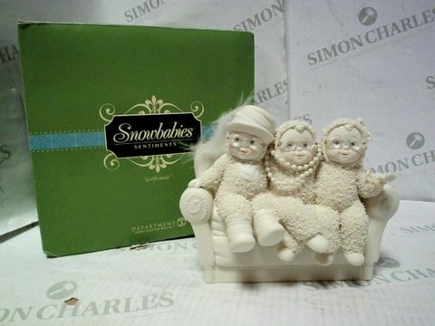 "Lot 7686 SNOWBABIES SENTIMENTS ""GIRLFRIENDS"" ORNAMENT"