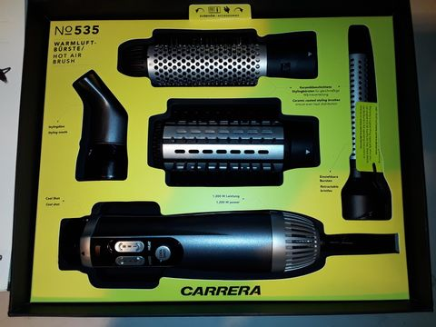 Lot 3171 CARRERA HOT AIR BRUSH WITH 3 BRUSH ATTACHMENTS
