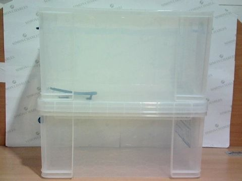 Lot 2756 2 REALLY USEFUL STORAGE BOXES - 2X 84L