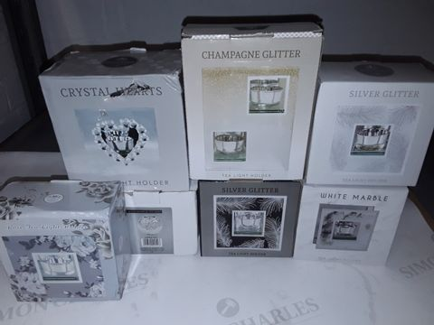 Lot 8460 LOT OF 7 ASSORTED BOXED TEA LIGHT HOLDERS