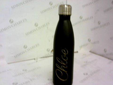 Lot 34 PERSONALISED INSULATED METAL DRINKS BOTTLE 'CHLOE; RRP £19.00