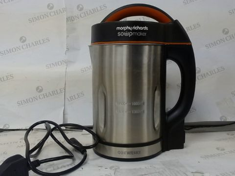 Lot 120 MORPHY RICHARDS 48822 SOUP MAKER, STAINLESS STEEL 1000W, 1.6L