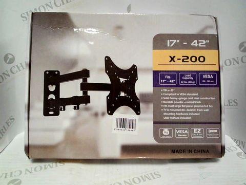 """Lot 7337 TV WALL BRACKET X-200 - FITS 17""""-42"""""""