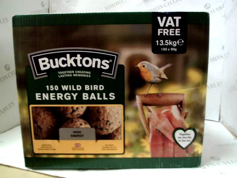 Lot 101 BUCKTONS 150 WILD BIRD ENERGY BALLS