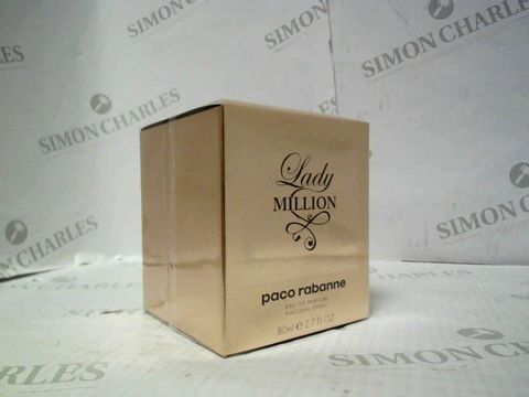 Lot 7222 BRAND NEW AND SEALED PACO RABANNE LADY MILLION 80ML EDP