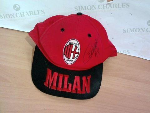 Lot 2347 AC MILAN SIGNED CAP