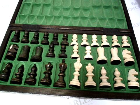 Lot 182 WOODEN CHESS BOARD