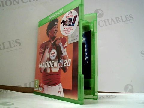 Lot 8190 MADDEN NFL 20 XBOX ONE GAME