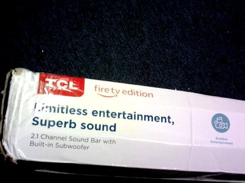 Lot 1019 TCL TS8011 2.1 CHANNEL SOUND BAR WITH BUILT-IN SUBWOOFER