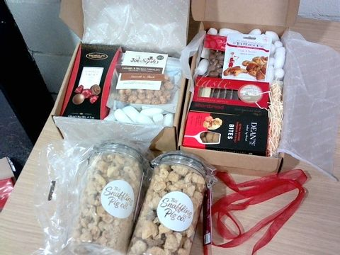 Lot 321 CHOCOLATE, CHEESE, NUTS AND PORK CRACKLING HAMPER