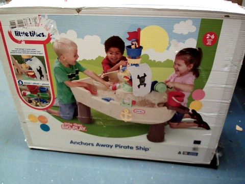 Lot 285 BOXED LITTLE TIKES ANCHORS AWAY PIRATE SHIP WATER TABLE  RRP £110.00