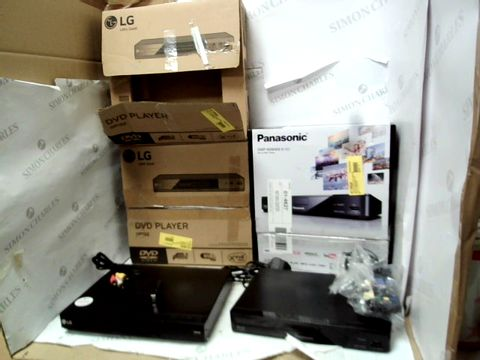 Lot 12107 LOT OF 3 VIDEO PLAYERS TO INCLUDE 2X LG DP132 DVD PLAYERS AND PANASONIC DMP-BD84EB-K BLU-RAY DISK PLAYER