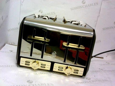 Lot 512 SWAN GATSBY DIAMOND RANGE 4 SLICE TOASTER BLACK RRP £59.99