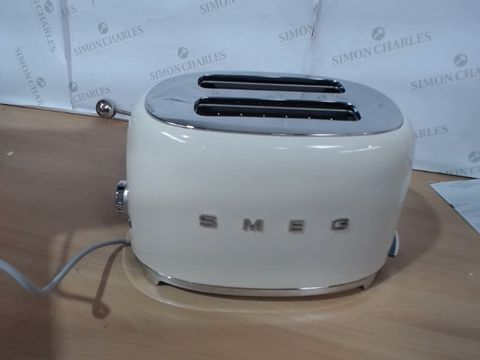 Lot 1017 SMEG 2 SLICE TOASTER IN CREAM RRP £139.99