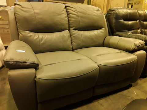 Lot 5038 DESIGNER TIVOLI LIGHT GREY POWER RECLINING TWO SEATER SOFA (WITH 2 SPARE NACK COVERS)