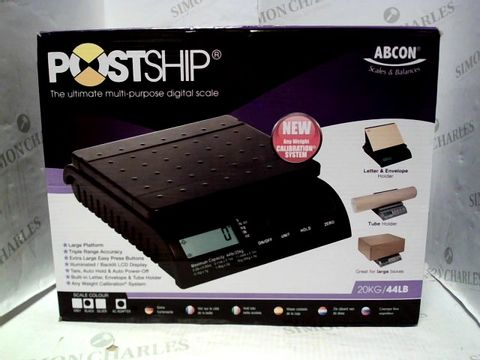 Lot 10400 ABCON POSTSHIP DIGITAL 20KG MULTI-PURPOSE DIGITAL SCALE
