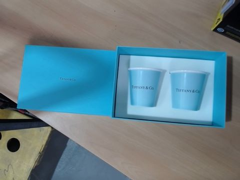 Lot 1524 BOXED TIFFANY& CO. PAIR OF CUPS