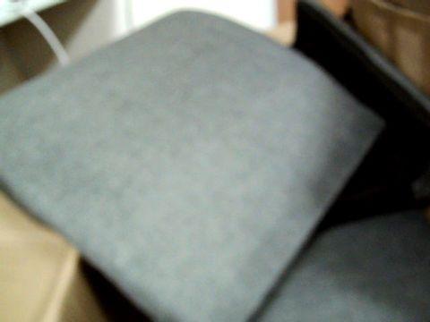 Lot 296 BOXED DARK GREY FABRIC ACCENT TUB CHAIR