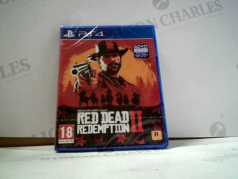 Lot 8014 RED DEAD REDEMPTION II PLAYSTATION 4 GAME