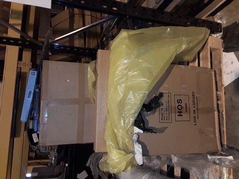 Lot 10275 PALLET OF ASSORTED BOXED FURNITURE ITEMS TO INCLUDE: SIDE TABLE, MEDIA UNIT