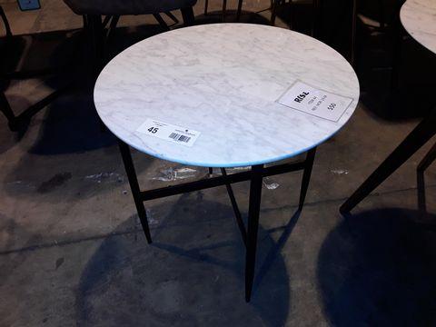 Lot 45 DESIGNER CIRCULAR WHITE ONYX COFFEE TABLE