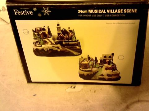 Lot 15018 FESTIVE WINTER WISHES ANIMATED MUSICAL CHRISTMAS SCENE ORNAMENT - CHRISTMAS TREE