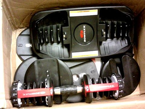 Lot 11290 BOWFLEX SELECTTECH ADJUSTABLE DUMBBELL SYSTEM