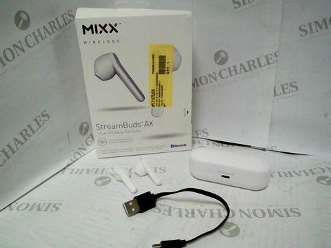 Lot 10084 MIXX AUDIO STREAM BUDS AX TRUE WIRELESS EARBUDS - WHITE