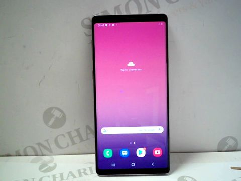 Lot 1031 SAMSUNG GALAXY NOTE 9 128GB ANDROID SMARTPHONE