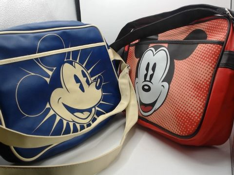 Lot 4023 2 MICKEY MOUSE RETRO BAGS