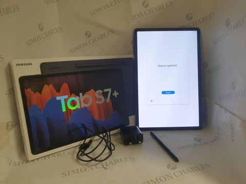 Lot 3 BOXED SAMSUNG GALAXY TAB S7+ 128GB ANDROID TABLET - MYSTIC BLACK