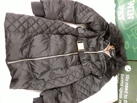 Lot 22 BRAVE SOUL PADDED JACKET IN BLACK WITH FAUX FUR TRIM - XL 16