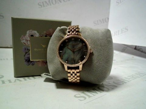 Lot 4163 OLIVIA BURTON MOTHER OF PEARL/GOLD ANALOGUE WRISTWATCH  RRP £107.00