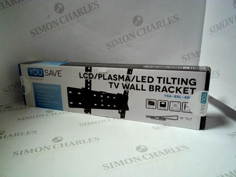 Lot 7630 BOXED LCD/PLASMA/LED TILTING TV WALL BRACKET YSA-BSL-400T