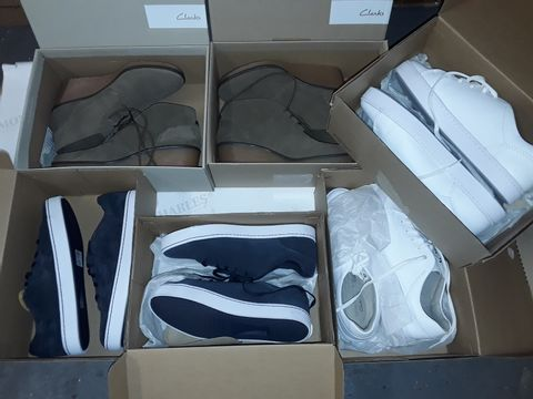 Lot 8071 LOT OF 6 ASSORTED BOXED PAIRS OF CLARK'S SHOES IN VARIOUS SIZES