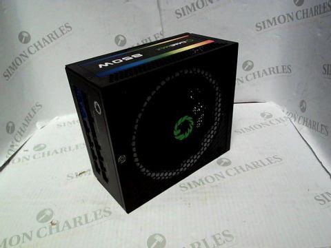 Lot 7017 GAME MAX RGB-850 850 W MODULAR 80 PLUS GOLD POWER SUPPLY
