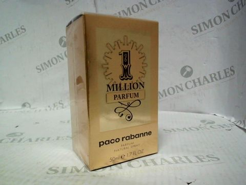 Lot 5026 BRAND NEW AND SEALED PACO RABANNE 1 MILLION PARFUM 50ML