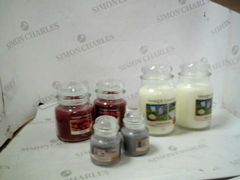 Lot 25 YANKEE CANDLE 6 PIECE ULTIMATE WAX COLLECTION
