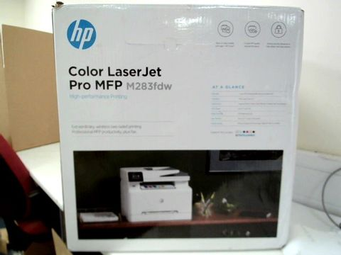 Lot 13476 HP COLOUR LASERJET PRO M283FDW MULTI-FUNCTION PRINTER