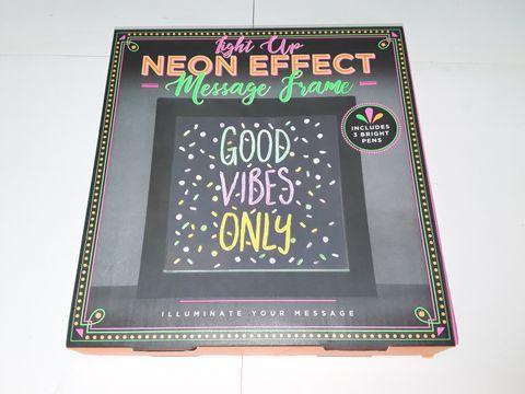 Lot 6037 LIGHT UP NEON EFFECT MESSAGE BOARD