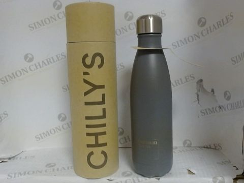 Lot 913 CHILLY'S CHROME WATER BOTTLE